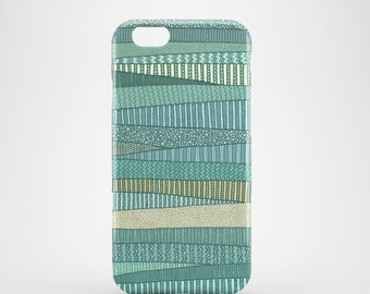 Summer Fields mobile phone case / green iPhone X, iPhone 8, iPhone 7, iPhone 7 Plus, iPhone SE, iPhone 6/6S, iPhone 5/5S, green iPhone case