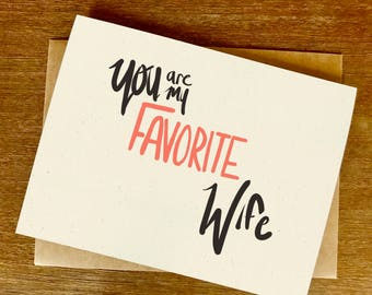 You are my Favorite Wife