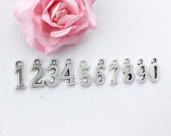Add-on Number charm to add onto existing orders only!, bridesmaid gift, mothers day gift