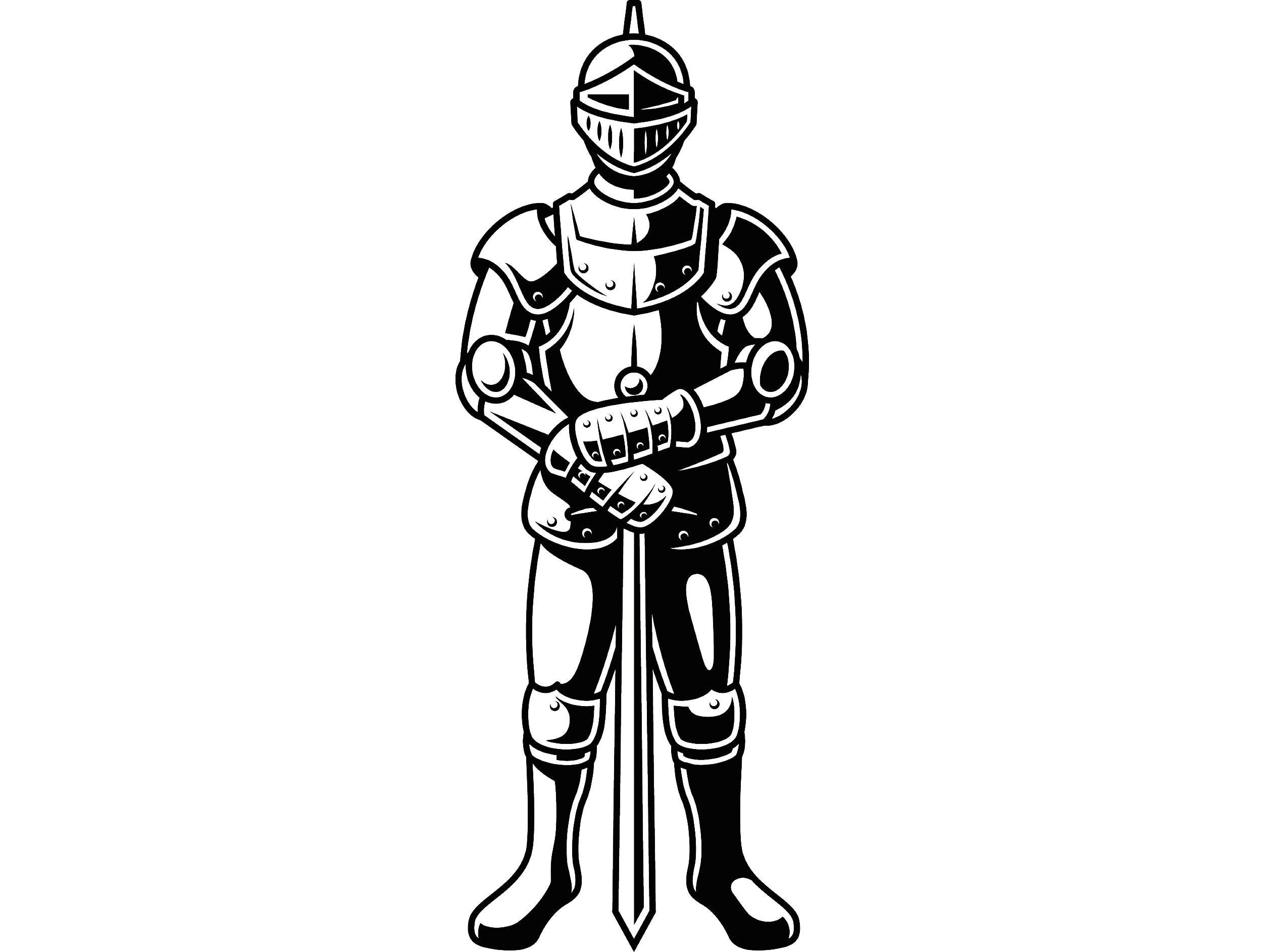 Knight 3 Metal Armor Helmet Sword Shield Monarch Military