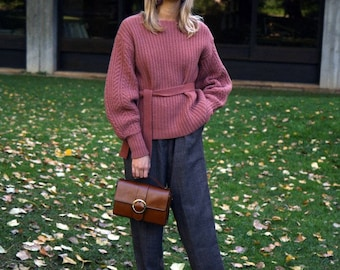 Checked Tapered Wool Trousers