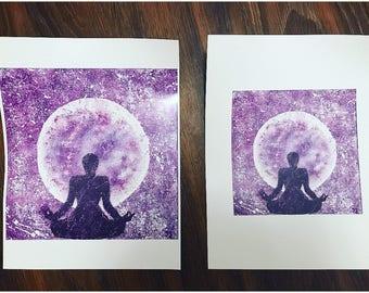 Ethereal Monochromatic Meditation Print-6x6