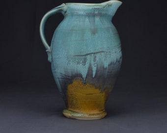 Blue Handmade pottery Ceramic Pitcher Stoneware pitcher