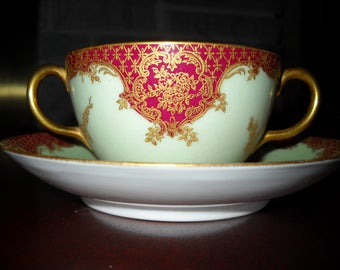 Haviland/Limoges Double handled cup