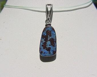 Nice Boulder Opal Stone Pendant, Cobalt Blue Fire colors 15fr24