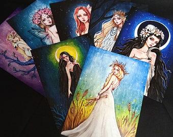 Set of seven Fine Art Prints. Slavic mythology.