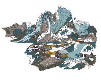 Nordic Mountains A4 print