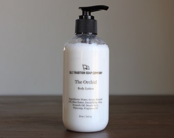 The Orchid Body Lotion, Natural Vegan Floral Lotion