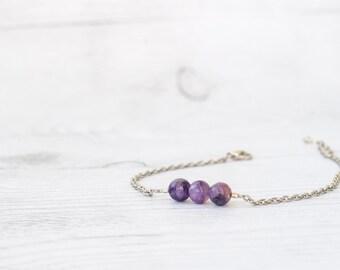 Russian charoite jewelry, Charoite bracelet
