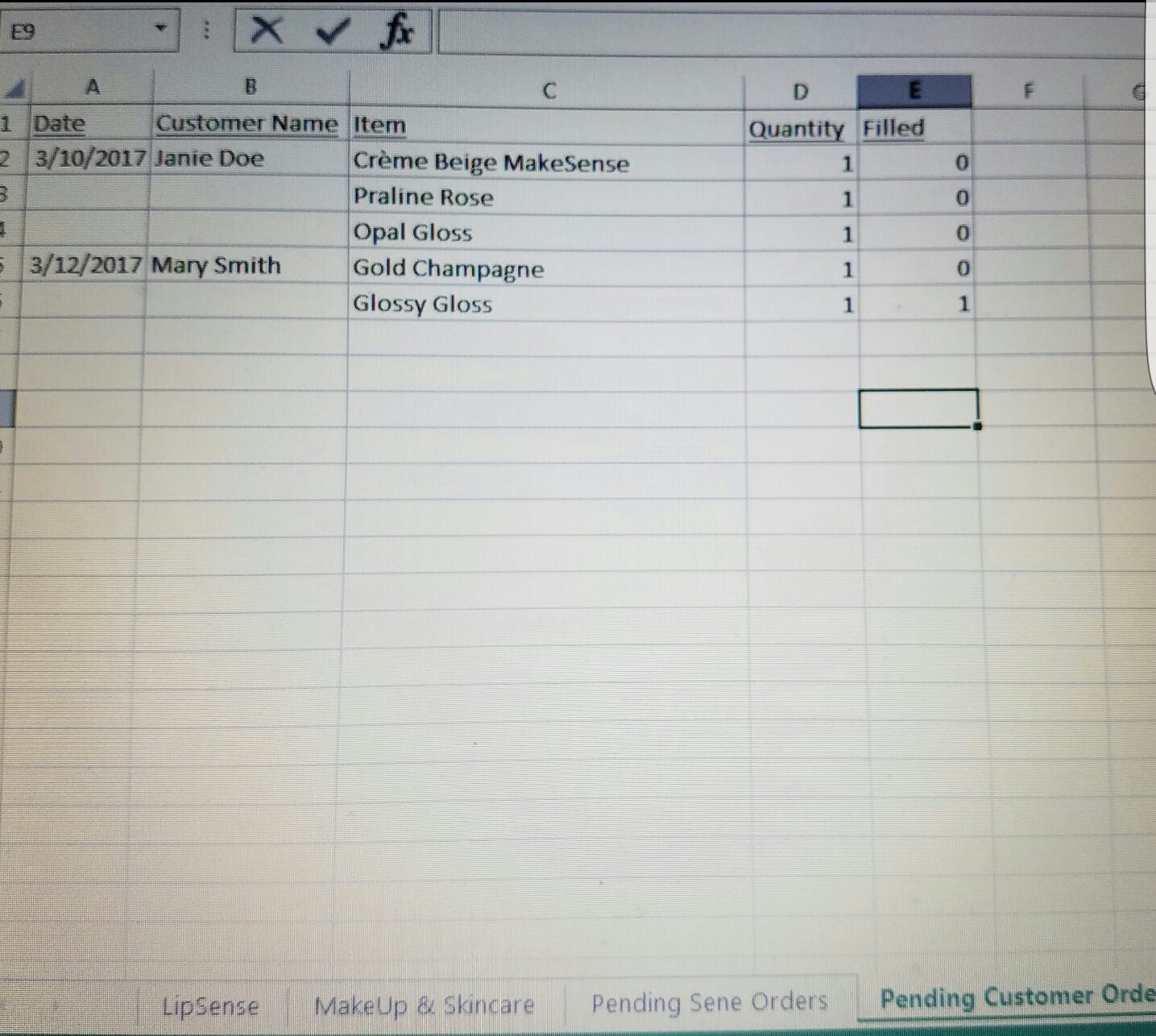 Inventory, Order & Trade Tracking Spreadsheet - Simple Business Tool ...