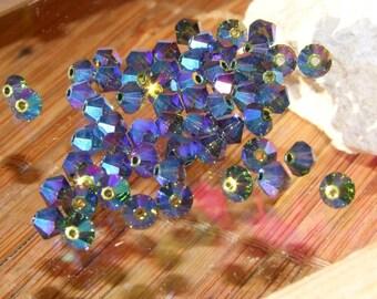 20 4 mm Tourmaline ABX2 swarovski crystal beads
