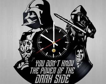 Star Wars Fictional Characters Vinyl Record Wall Clock