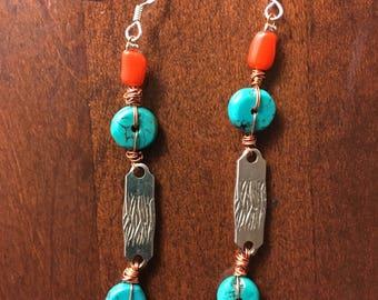 Handcrafted Earrings/Eco Friendly Earrings/Vintage Beads