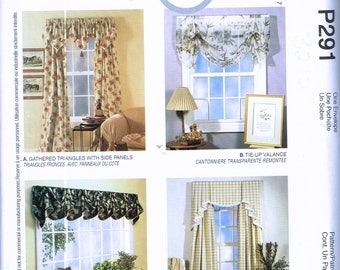 Easy Curtain Sewing Pattern   Swag Curtain Sewing Pattern   Valance Curtan Sewing  Pattern   Home