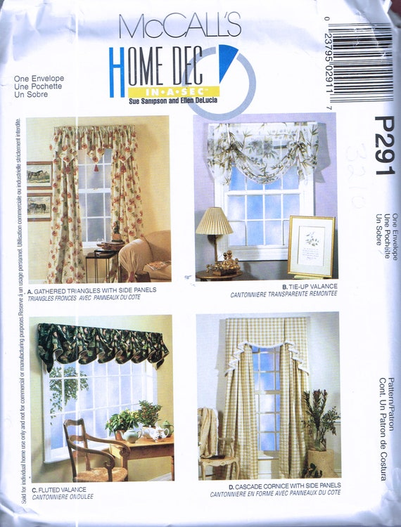 Easy Curtain Sewing Pattern Swag Curtain Sewing Pattern
