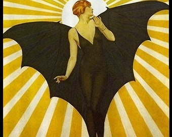 9 Art Deco Bat Lady Tags