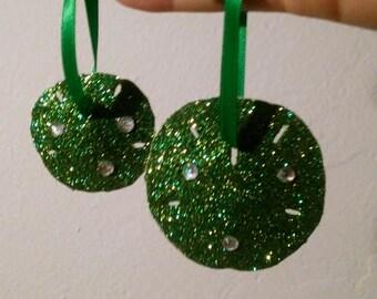 St Patricks Day Handmade Sand Dollar Ornament