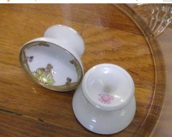 SUMMER SALE 10% Two Antique footed SALT Dips Nippon,