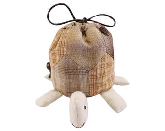 Cutie Turtle Pouch Bag Purse Craft Sewing Project Kits Beginner Sewing Craft Kit