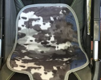Waterproof Carseat Pad - Blue/ gray army pattern