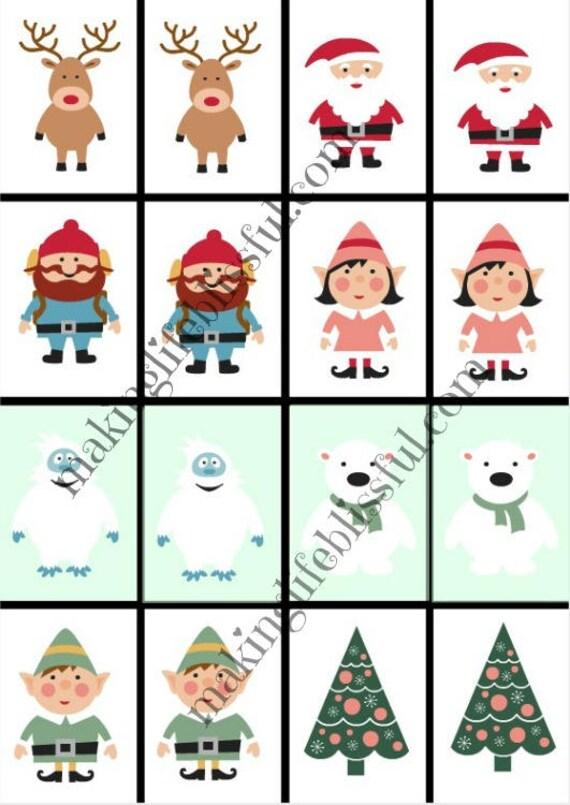 Christmas Go Fish Cards and Memory Game Printable