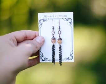 Long Copper Earrings
