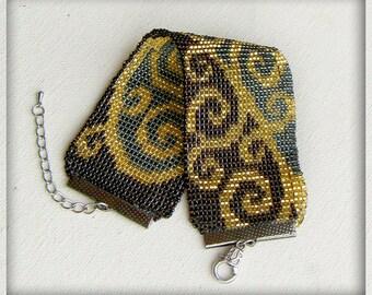 Bracelet, Seed Bead Bracelet, Handmade bracelet, Loomed Bracelet, Cuff bracelet, Bead Loom Bracelet, Adjustable Bracelet