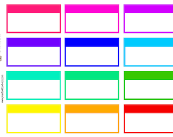 Bold Appointment Boxes (Erin Condren stickers)