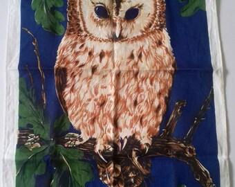 Owl by Ulster linen tea towel.
