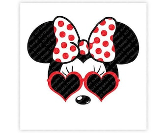 Disney, Minnie Mouse, Sunglasses, Icon Mickey Mouse Head, Mouse Ears, Digital, Download, TShirt, Cut File, SVG, Iron on, Transfer