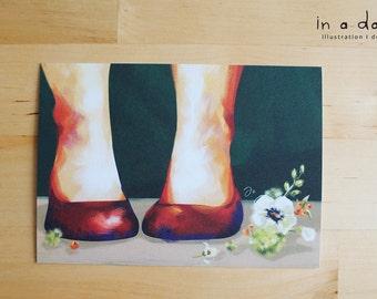 Postcard - New Shoes