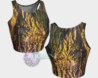 Tree Crop Top - Camouflage Crop Top, Camo Crop Top, Camo Tank Top, Camouflage Tank Top, Tree Tank Top, Camo Gift, Camo Swimsuit, Camo Yoga