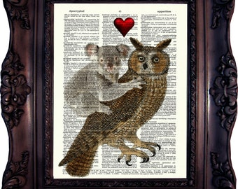Valentines Day Gift Anniversary Gift for Wife Gift for Husband Valentines Gift For Boyfriend Valentines Gift for Girlfriend Koala Owl C:590