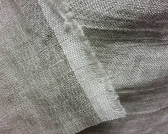 """Linen color fabric, washed natural color linen fabric by the yard, linen by the meter, width 143cm 56""""  grey beige linen by the yard"""
