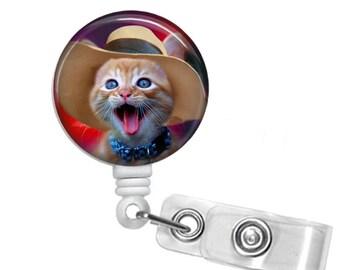 Kitten, Cat Badge reel, ID Badge holder, retractable badge reel