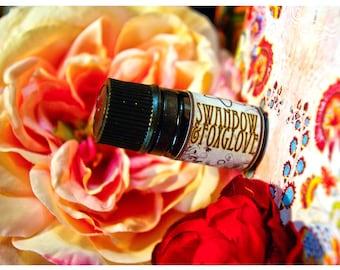 swan bow and foxglove - natural perfume oil - 1/6 oz