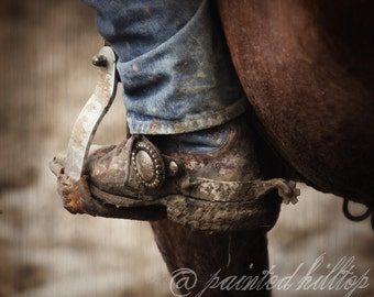 Western Riding Photography, Spurs, Rustic Decor, western decor