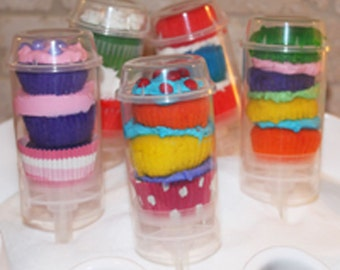 Push Up Pop Conatiners with Lid- 24 Re-Usable