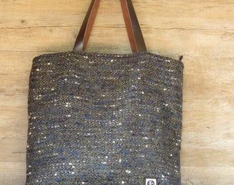Wolle-Beutel, Handwerk Tasche, handgemachte Tasche, große Tasche, Handtasche, Tasche, Geldbörse Muster, Wolle große Tasche