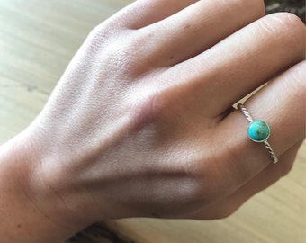 Turquoise stacker ring-Size 8