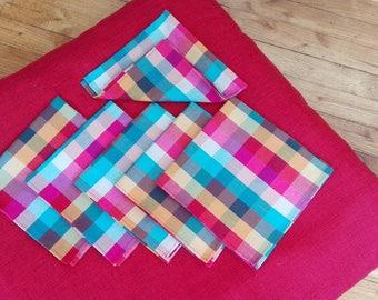 set of 6 cotton handkerchiefs pure machine washable and reusable