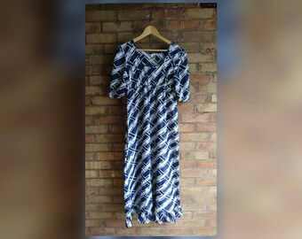 Vintage nautical full length dress