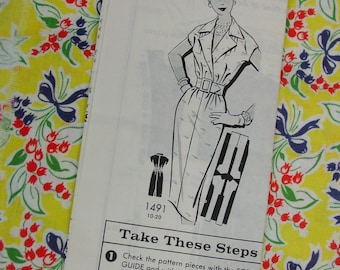 Vintage Pattern c.1960's Mail Order Dress, Size 16