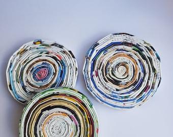 Handmade paper coasters