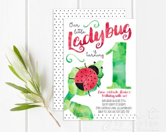 Ladybug Invitation | Ladybug Birthday | Ladybug Party | Ladybug | First Birthday | Ladybug Invite | 1st Birthday | Birthday Invitation