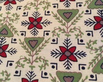 Vintage Cotton Yardage, 1960's Dutch style print