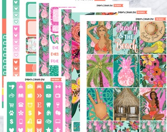 The Beach Deluxe Weekly Planner Stickers Kit