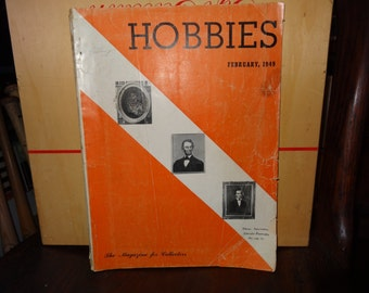 Hobbies Magazine February, 1949 Interesting Lincoln Portraits