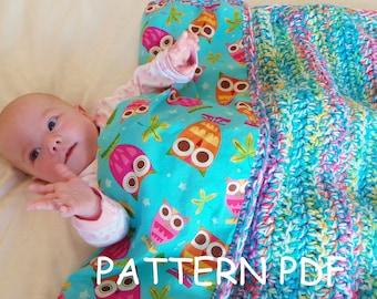 CROCHET BLANKET PATTERN Magical mystery blanket pattern, Baby blanket Pattern Crochet blanket pattern Colourful Baby crochet blanket pattern