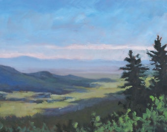 East from Rayado Canyon - Philmont - New Mexico - Original Oil Landscape Painting